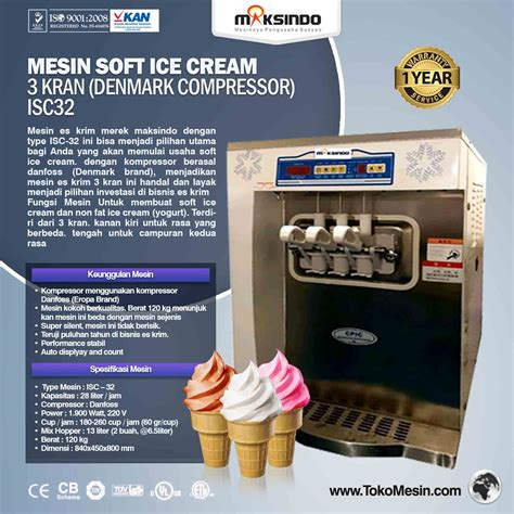 membuat ice cream yogurt jual mesin soft ice cream 3 kran denmark compressor