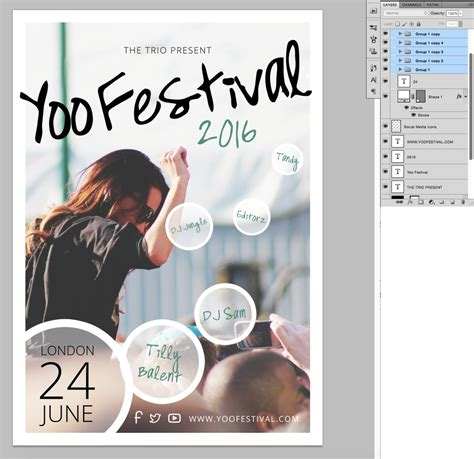 poster template photoshop festival poster template in photoshop 187 saxoprint uk