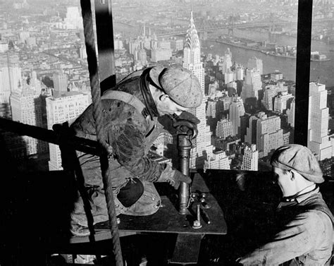 state of the a photographic history of the integrated circuit riveters on the empire state building photograph by lw hine