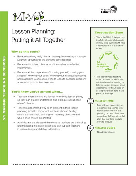 common core standards lesson plan template download free weekly lots