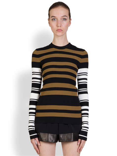 Givenchy Sweater lyst givenchy multi stripe sweater