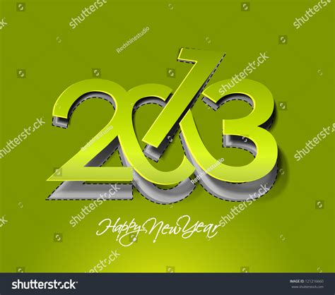 New Year Paper Folding - new year 2013 background paper folding stock vector