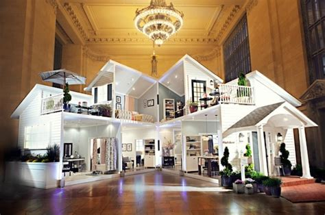 life size doll houses a life size dollhouse gets built in nyc s grand central station designtaxi com