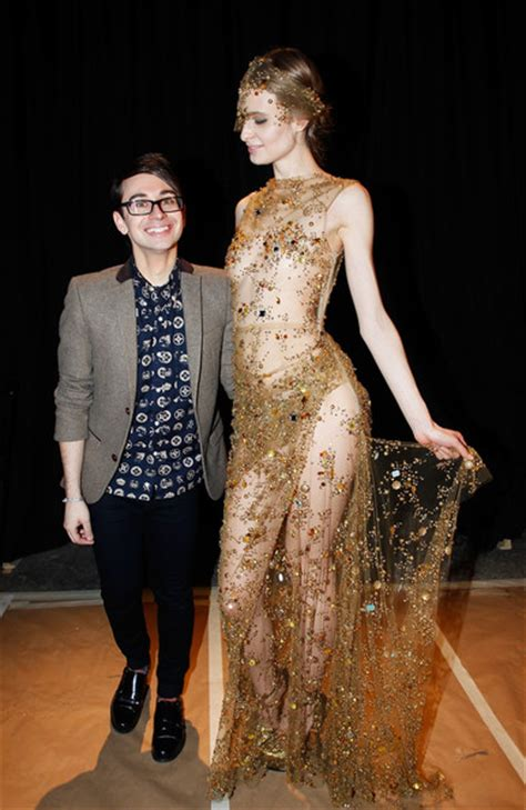 Christian Siriano To Keep Fashionable by Christian Siriano Front Row Fall 2013 Mercedes