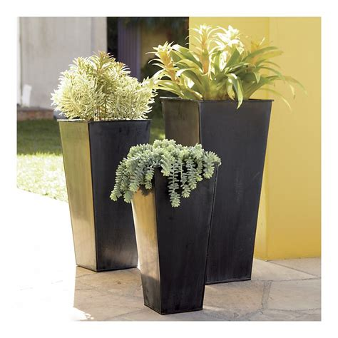 Outdoor Vases by Modern Planters And Neat Black Floor Standing Flower