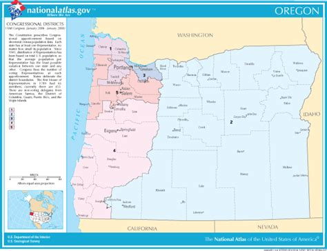 map of oregon districts oregon facts and symbols us state facts