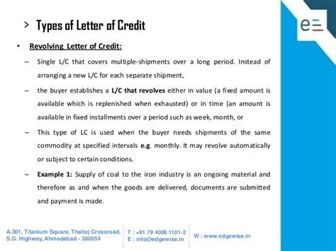 Pakistan Letter Of Credit Letter Of Credit Lc Presentation
