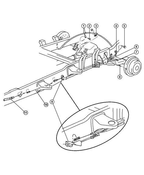 Brake Line Diagram 2001 Dodge Ram 2001 Dodge Ram 1500 Parking Brake Cable