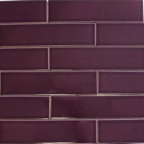 purple kitchen backsplash ceramic subway tile for kitchen backsplash or bathroom