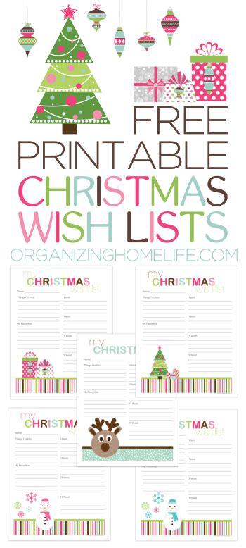 printable christmas organizing lists free printable christmas wish lists via organizing