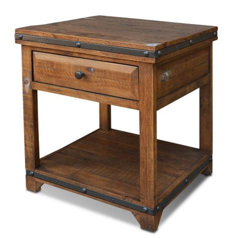 rustic pine end table rustic end table pine wood end table rustic pine end table