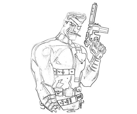 Marvel Ultimate Alliance 2 Nick Fury Character Temtodasas Fury Coloring Page
