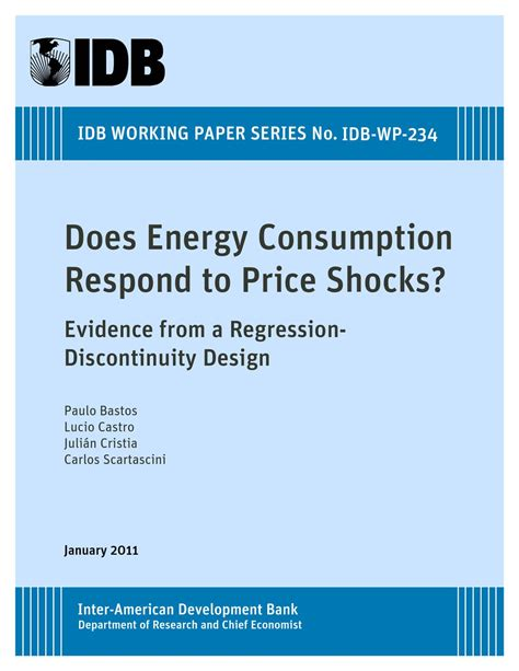 regression discontinuity design natural experiment does energy consumption respond to price shocks evidence