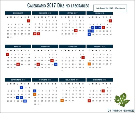 Calendario 2017 Y Festivos Calendario 2017 Feriados En Argentina D 237 As No Laborables