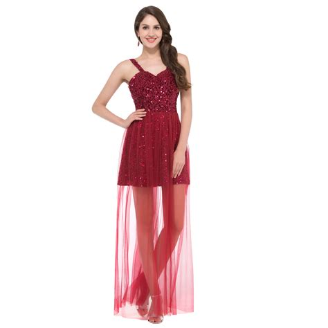 2016 long short prom dresses cocktail dresses prom high school red sequins homecoming dresses short 2016