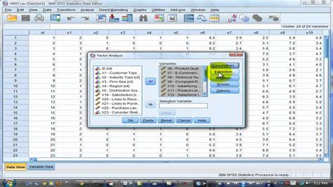 spss tutorial for data analysis factor analysis tutorial using spss v20 youtube