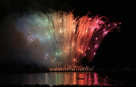 new year vancouver fireworks rainbow in fireworks vancouver part of the