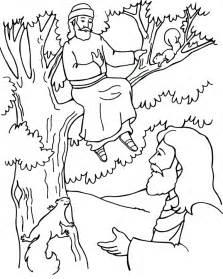 zacchaeus coloring page zacchaeus and jesus coloring page