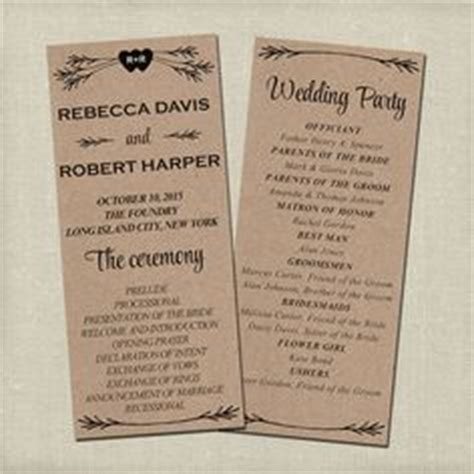 Wedding Brochure Copy 1000 Ideas About Wedding Program Templates On