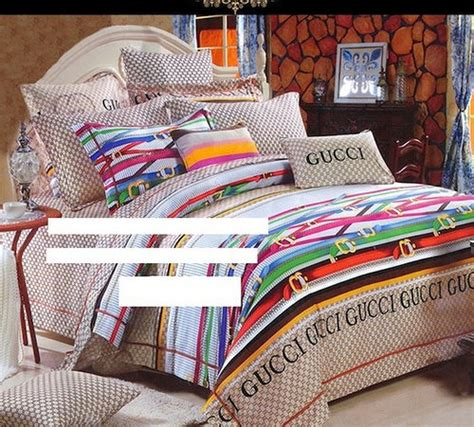 gucci bed gucci bed set gu 08 gucci bedding set 4 piece 2 pillow
