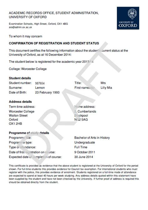 Student Confirmation Letter Nottingham verification of enrollment letter template docoments