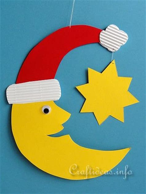Kid Paper Crafts - crafts for paper santa moon room or