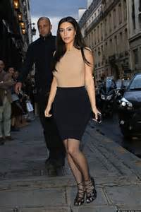 kim kardashian has curves for days in tight top and skirt