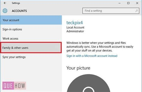 how to create a new user account in windows 10 how to create a new local user account in windows 10 quehow
