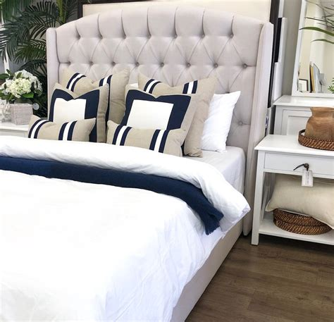 wa  deep button scroll bed hamptons style bedroom