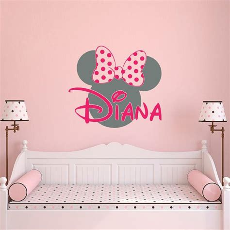 Minnie Mouse Nursery Decor by Best 25 Personalized Wall Decals Ideas On