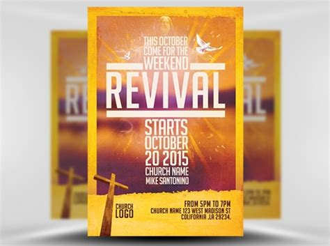 free church revival flyer template 39 church flyer templates psd ai illustrator