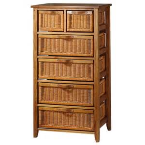 6 drawer wicker dresser honey walmart