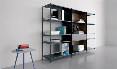 libreria alluminio libreria in alluminio con schiene in legno extendo