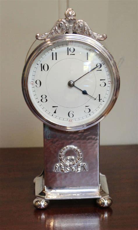 pedestal clock edwardian silver plated pedestal clock 324765