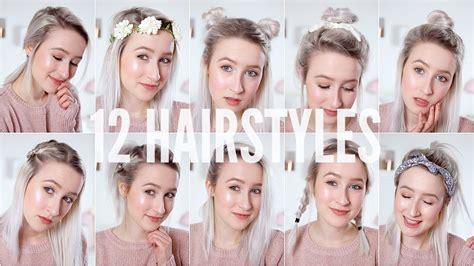 heatless hairstyles for shoulder length hair 12 easy heatless hairstyles short medium hair sophie
