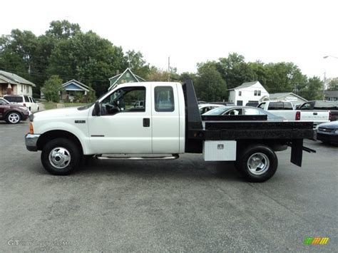 flat bed ford 1999 oxford white ford f350 super duty xlt supercab 4x4
