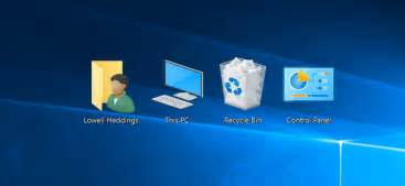 Computer Desktop Icons Disappeared Display My Computer Icon On The Desktop In Windows 7 8 Or 10