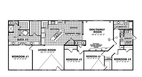 legacy manufactured home floor plans home plan