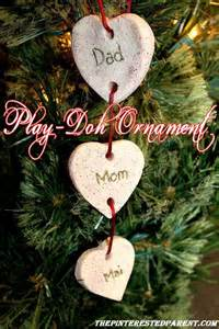 diy family ornaments play dough family ornaments easy for to