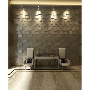 natural color brown gray 3d cubes wall panel come with