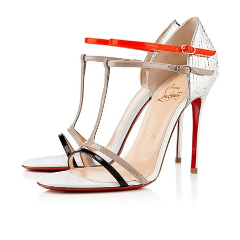 christian louboutin sandals christian louboutin arnold 100mm sandals silver