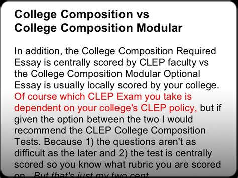 College Composition Clep Essay by Free College Composition Clep Study Guides Free College Composition