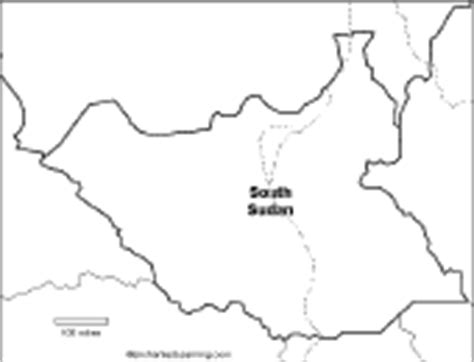 South Sudan Map Outline by South Sudan Enchantedlearning