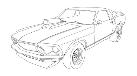 supercar drawing sports car ford mustang gt coloring pages womanmate com