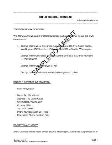 authorization letter for grandparent child consent mexico templates