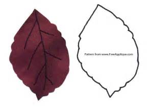 Cabin Designs printable leaf patterns for applique quilting crafts or