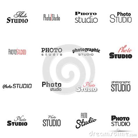 Photo Studio For Label Name Stock Vector Image 49580145 Photography Label Templates