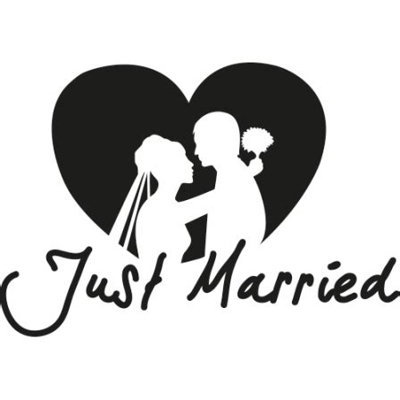 Auto Sticker Just Married by Autosticker Just Married Autosticker
