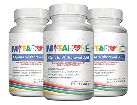 Best Vitamins For Opiate Detox by Mitadone Opiate Withdrawal Aid Supplement 3 Pack 360