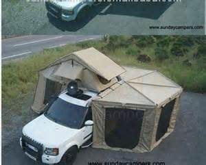 Pop Up Camper Awning Screen Room Car Roof Top Tent With Side Awning Fox Awning China